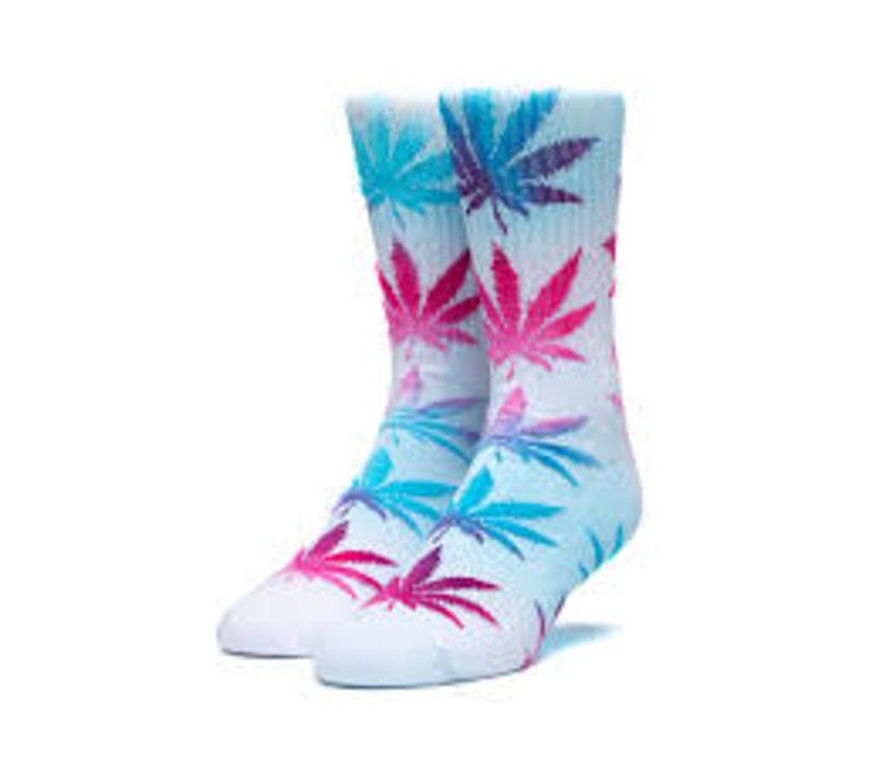 Huf Tiedye Leaves Plantlife Sock White