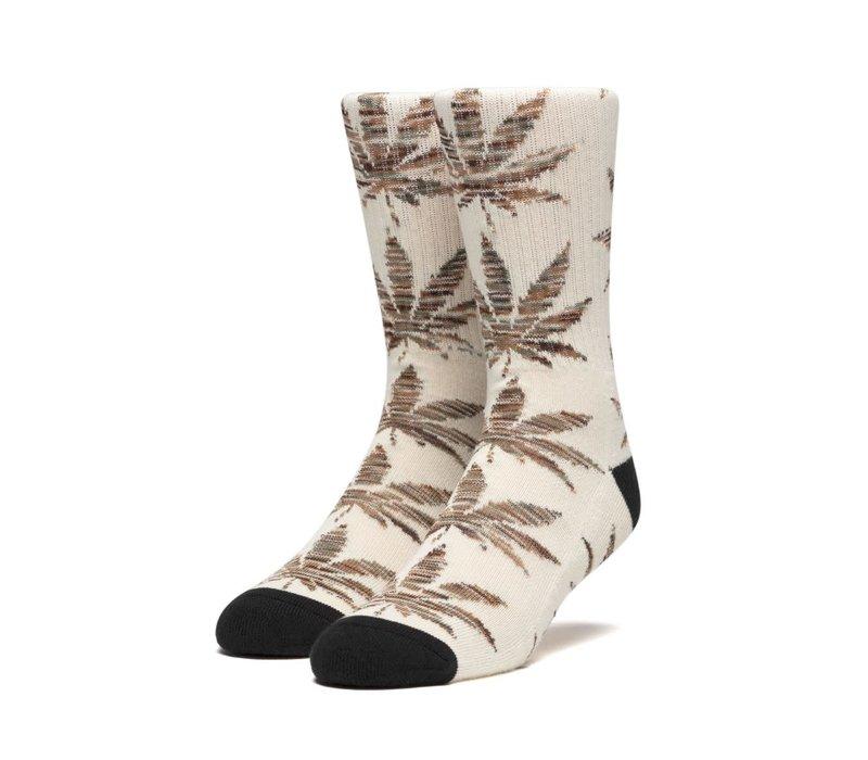 Huf Plantlife Melange Leaves Sock Unbleached