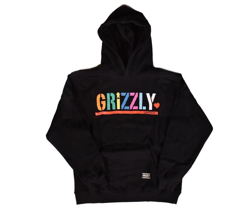 Grizzly Color Block Youth Hoodie Black
