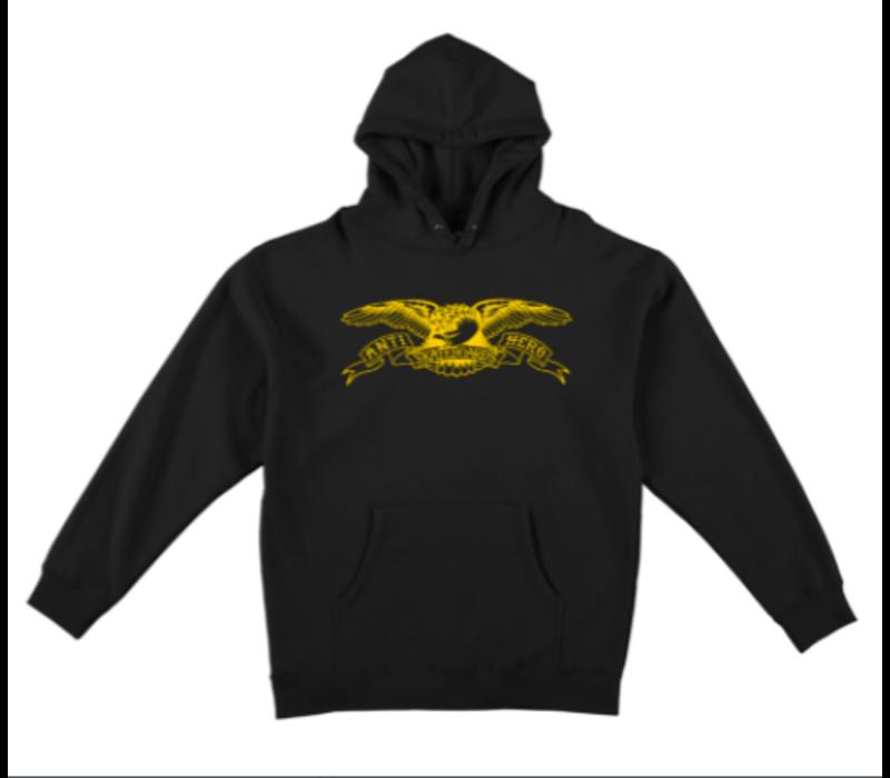 Anti Hero Eagle Hoodie Black Yellow