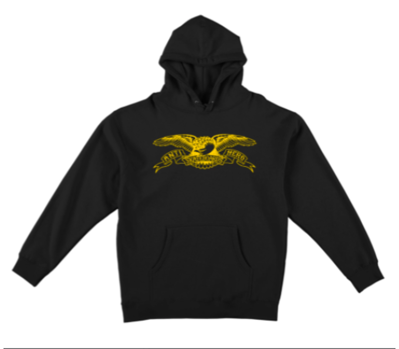 Anti Hero Eagle Youth Hood Black/Yellow