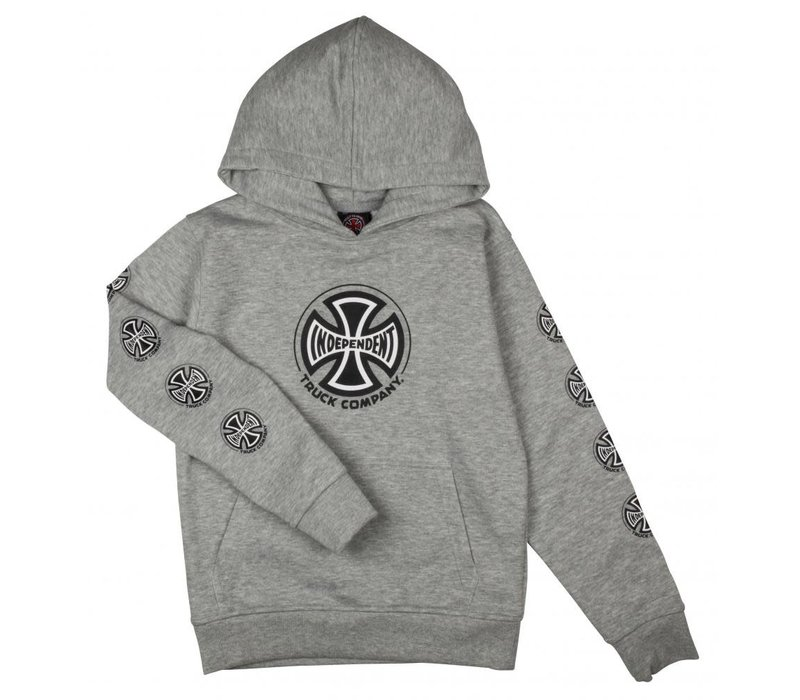 Independent Youth Truck Co Sleeve Hood Heather Grey