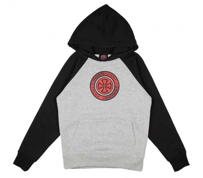 Independent Youth Target Raglan Hood Black/Grey