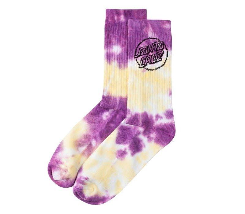 Santa Cruz Tie Dye Dot Sock Banana/Lavender