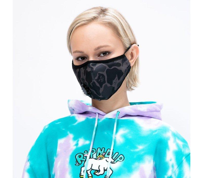 Ripndip Blackout Camo Ventilated Face Mask