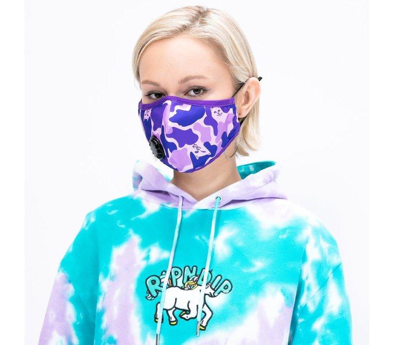 Ripndip Purple Camo Ventilated Face Mask
