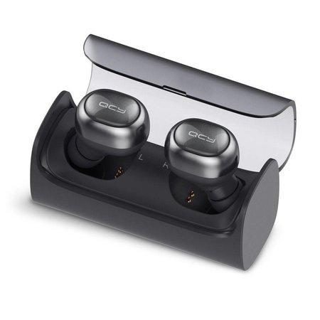 QCY QCY 2 Stuks 4.1 Bluetooth Oortjes met Oplaadstation - Zwart