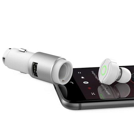 ROCK ROCK Multifunctioneel 2.4A Auto Oplader Bluetooth 4.0 Oortje