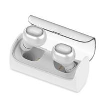 Dual Bluetooth Oortjes met VNC en Oplaadstation - Wit