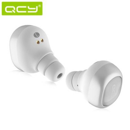 QCY QCY Dual Bluetooth Oortjes met VNC en Oplaadstation - Wit