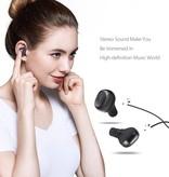 QCY QCY Dual Bluetooth Oortjes met VNC en Oplaadstation - Wit