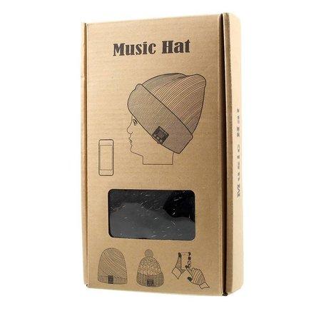 Gebreide Muts met Built-in Bluetooth Headphones & Mic - Zwart