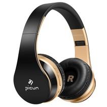 P16 Mega Bass Bluetooth Koptelefoon - Goud + Zwart