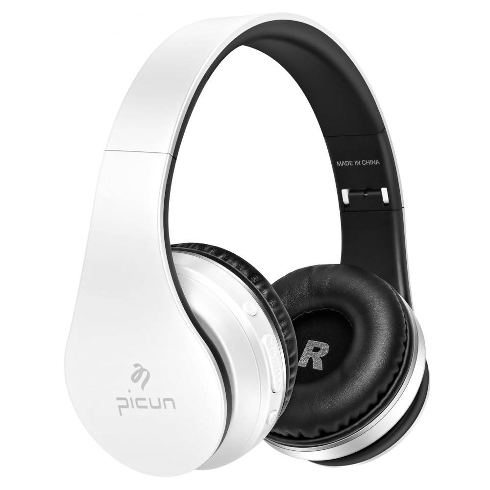 PICUN PICUN P16 Mega Bass Bluetooth Koptelefoon - Wit + Zwart