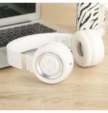 P6 Inklapbare Megabass Bluetooth Hoofdtelefoon - Wit + Zilver