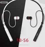 REMAX REMAX S6 Sport Nekband Bluetooth Oordopjes - Wit