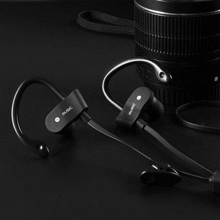 Bluetooth V4.1 Headphones met Oorhaak (BTH-H5) - Zwart