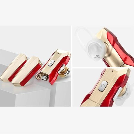 Iron Man Bluetooth Headset Noise Cancelling - Goud / Rood