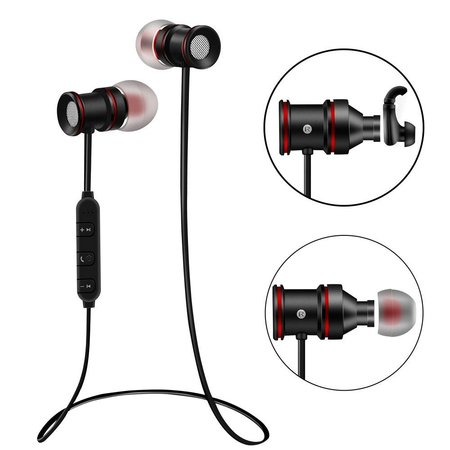 Bluetooth Hi-Fi Sport Oordopjes en Magneet - Zwart