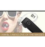B1 Draadloze 4.0 Headset met Noise-cancelling en Oorhaakje