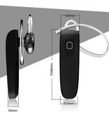 Bluetooth 4.0 In-ear Headset met Oorhaakje - Zwart