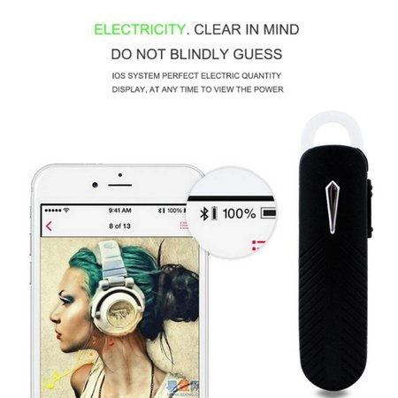 168 Bluetooth 4.0 Headset - Zwart