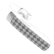 Ruitpatroon Bluetooth 4.1 Headset - Wit