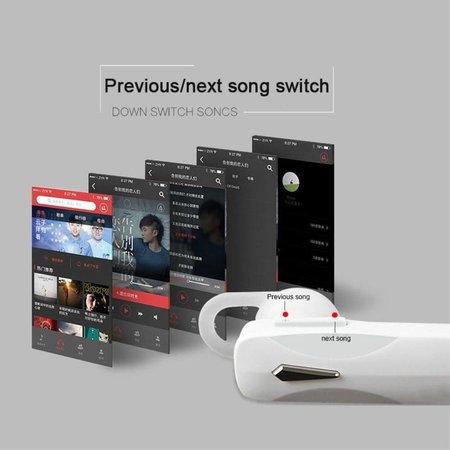 Draadloze Headset met Built-in Microfoon - Wit