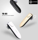 YK K4 Draadloze In-ear Headset - Goud