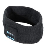 Fleece Bluetooth Hoofdband met Built-in Oortjes - Zwart