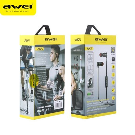 AWEI AWEI AK5 Intelligent Control Bluetooth Headset - Grijs