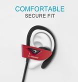 VEGGIEG VEGGIEG V8 Bluetooth Sport Headphones - Rood