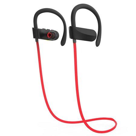 JAD JAD Q12 Bluetooth Sport Oordopjes - Rood