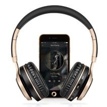 BT08 Over-ear Bluetooth Koptelefoon - Zwart / Goud