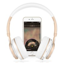 BT08 Over-ear Bluetooth Koptelefoon - Wit / Goud