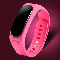 2-In-1 OLED Smart Polsband + Bluetooth Headset - Roze