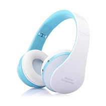 NX-8252 Opvouwbare Bluetooth Over-ear Koptelefoon - Wit / Blauw