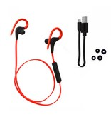 Q10 Bluetooth Sport Oordopjes met Afstandsbediening - Rood