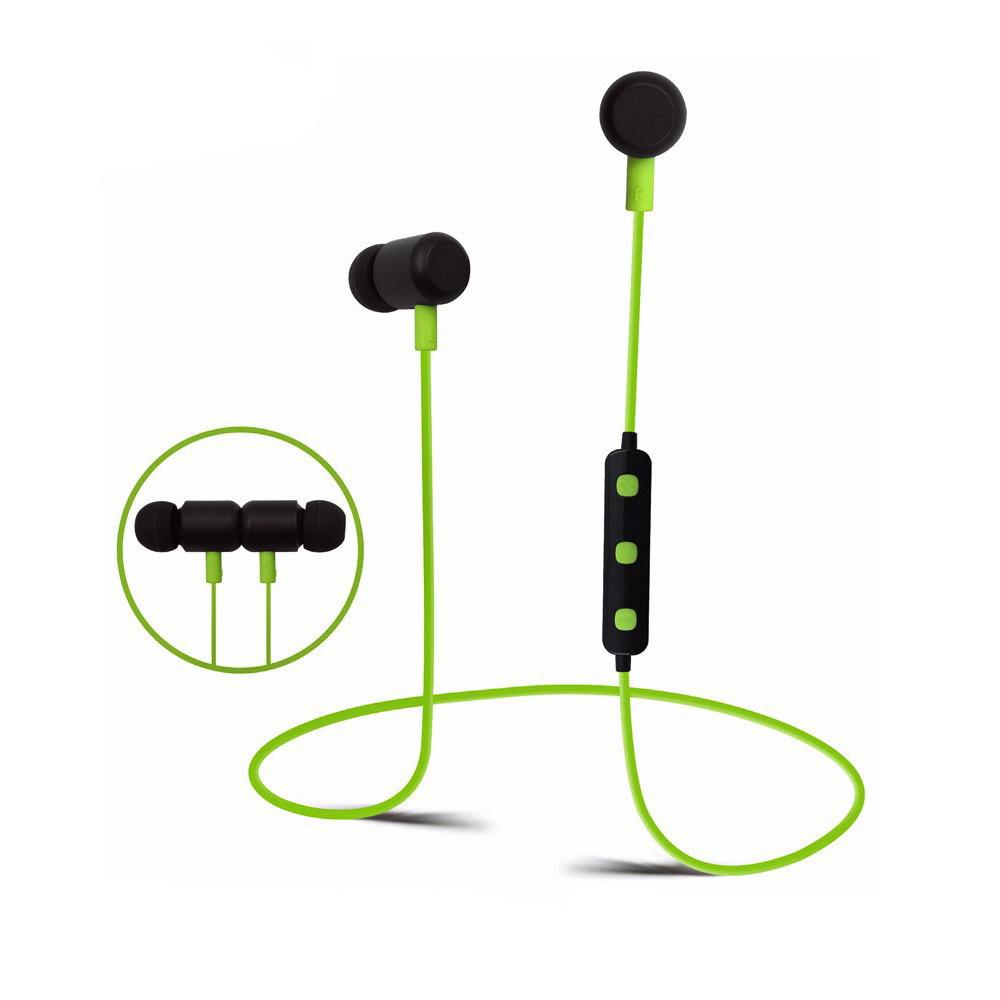 BT777 Bluetooth Sport Oortjes met Handsfree functie - Zwart/groen