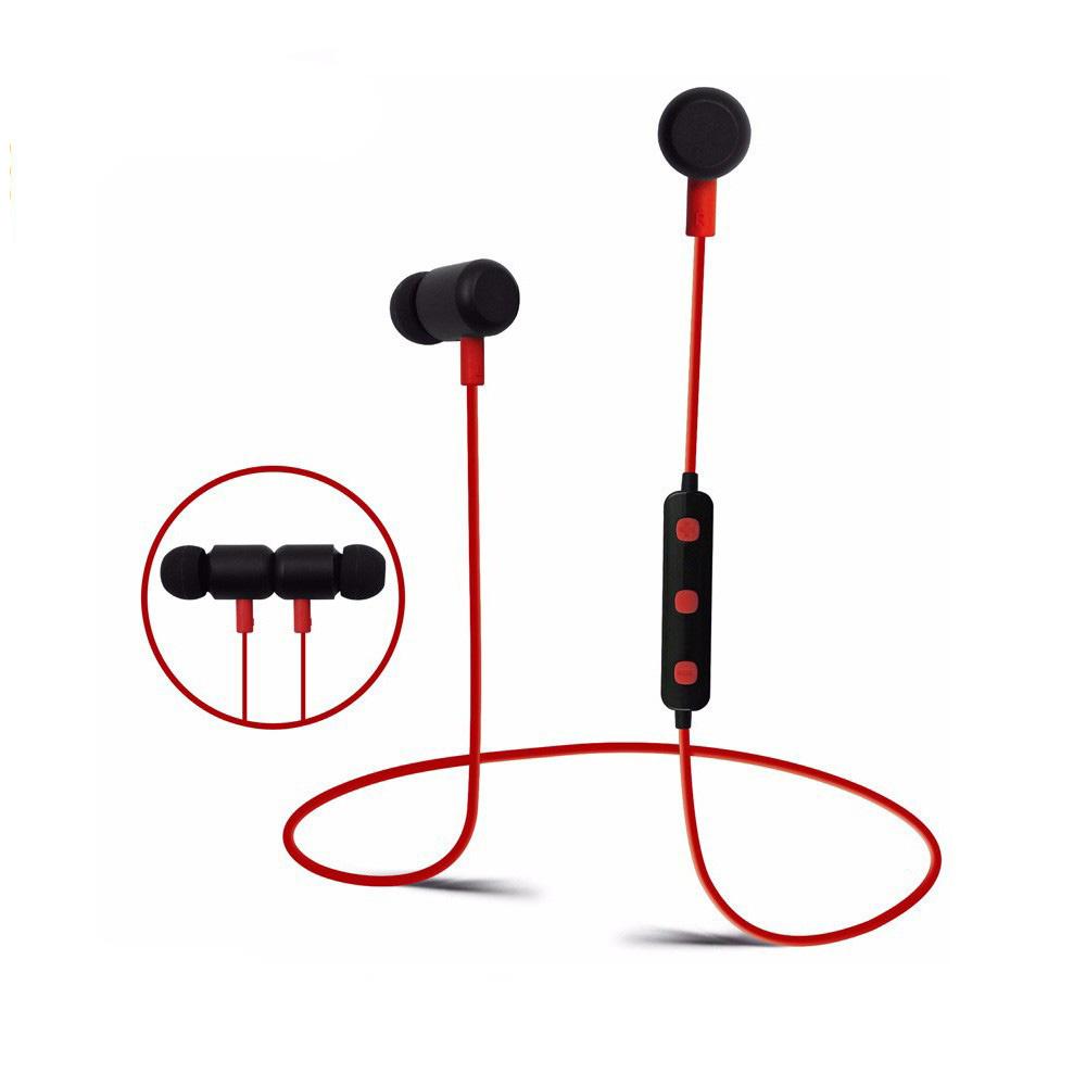 BT777 Bluetooth Sport Oortjes met Handsfree functie - Zwart/rood