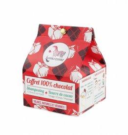 Lamazuna Giftset Chocolade: Shampoo in blok + Cacaoboter