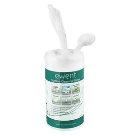 Ewent Screen and Surface Cleaning Wipes 100 pieces