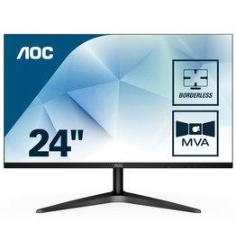 AOC Mon  23.6 F-HD / Borderless / HDMI / VGA / Black