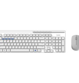 Rapoo 8100M toetsenbord RF Wireless + Bluetooth Wit