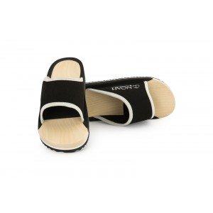 NOAH Houten slippers Maxi zwart