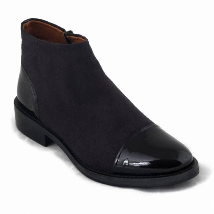 NAE vegan shoes Enkellaars Lorena Black