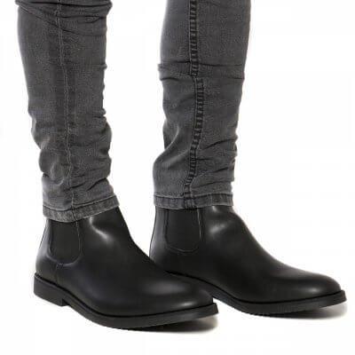 NAE vegan shoes Heren Enkellaars Mesa Black