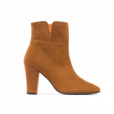 NAE vegan shoes Enkellaarjes Bline Brown