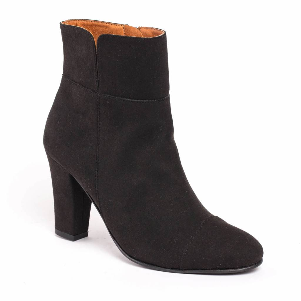 NAE vegan shoes Enkellaarjes Bline Black