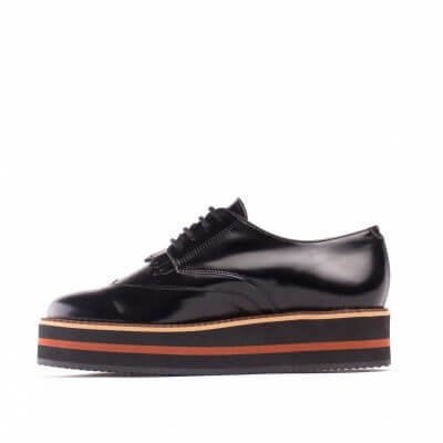 NAE vegan shoes Veterschoen Sandra Black